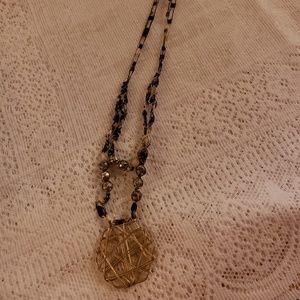 Jewelry - Unique Wire Pendant Bolo Adjustable Necklace